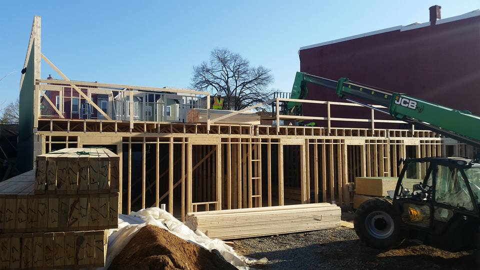 Framing begins at Montello…